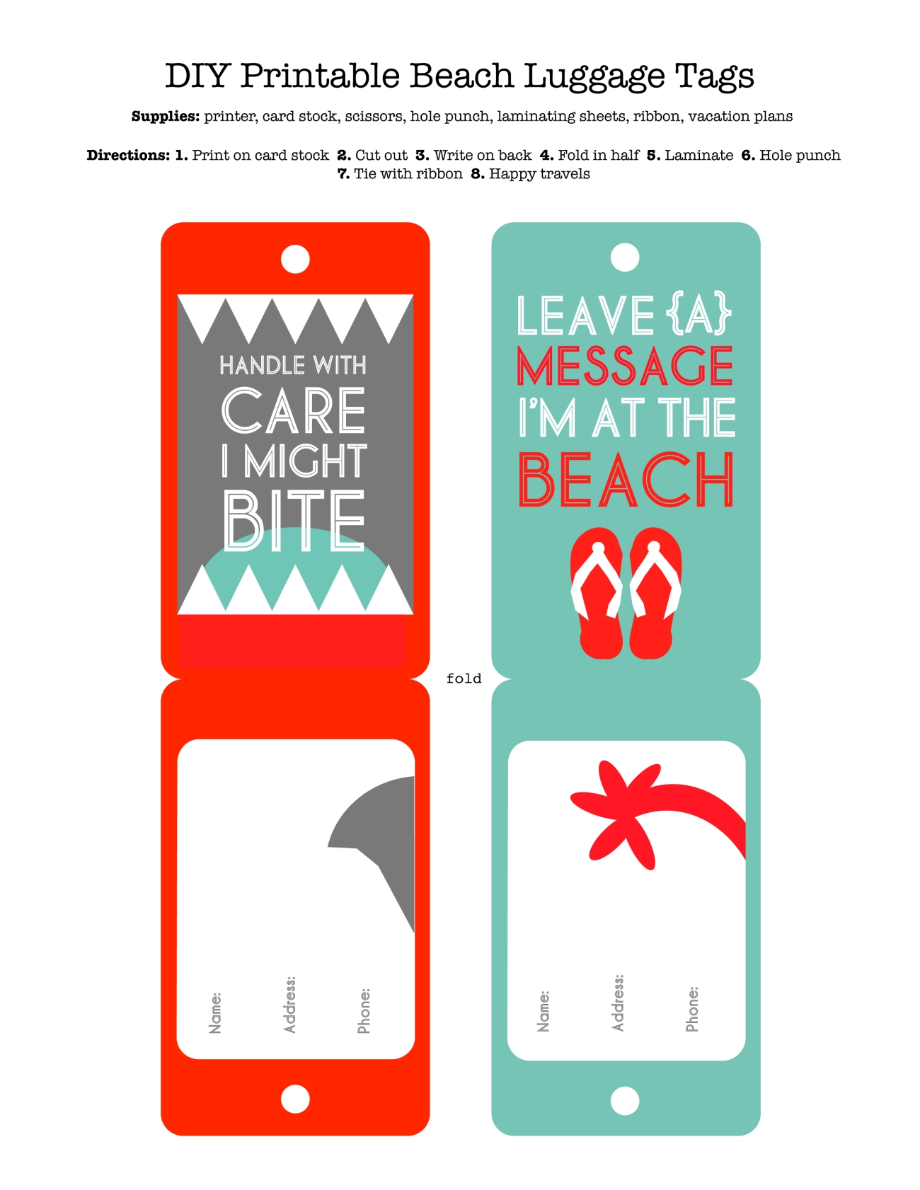 Beach luggage tags redefined mom