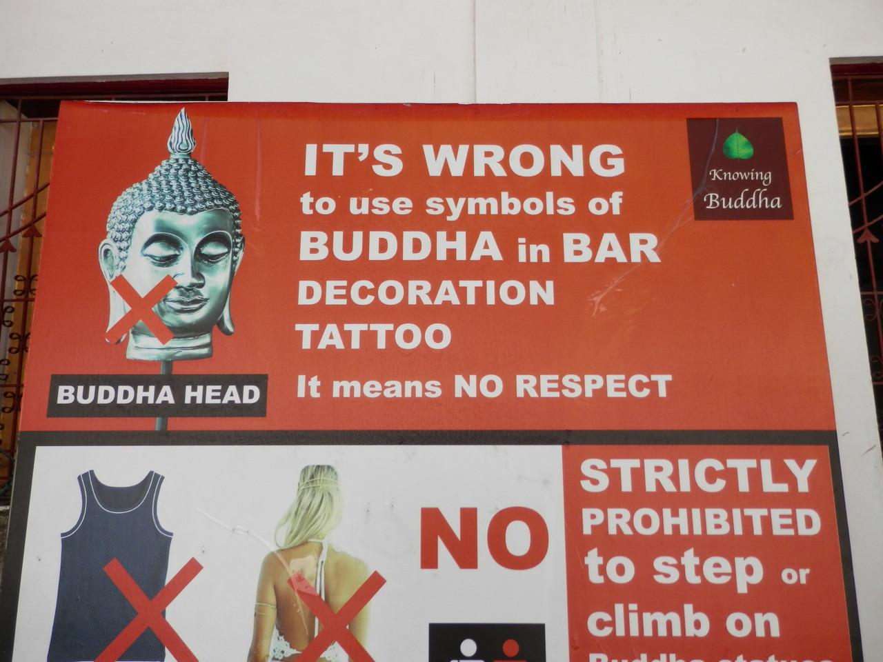 Cartel templo Tailandia